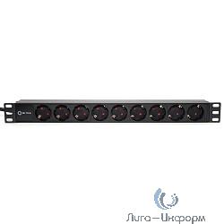 """5bites PDU919A-04 Блок розеток  9S / AL / 1U / 19"""" / 2M*3G*1.5MM2 / VDE"""