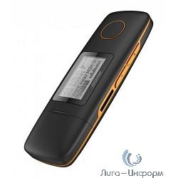 "291208 Плеер Flash Digma U3 {direct USB 4Gb черный/оранжевый/1.1""/FM/microSD}"