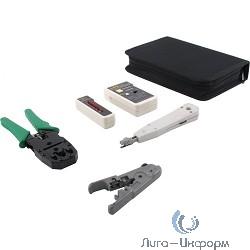 5bites TK031 Набор инструментов, клещи LY-T2007C универсальные, LY-T2021 Krone, нож LY-501B, тестер