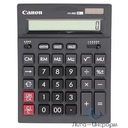 Калькулятор бухгалтерский Canon AS-888 черный 16-разр.