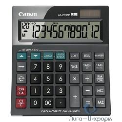Калькулятор бухгалтерский Canon AS-220RTS черный 12-разр.
