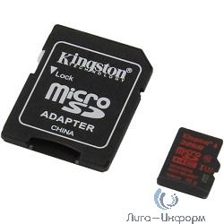Micro SecureDigital 32Gb Kingston SDCA3/32GB {MicroSDHC Class 10 UHS-I U3, SD adapter}