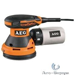 AEG  416100(EX 125 ES) Эксцентриковая шлифовальная машина [416100(EX 125 ES)] {300Вт,ф125мм,14000-30000об\м,ампл-2.4мм,1.5кг,чем,п\сборник}