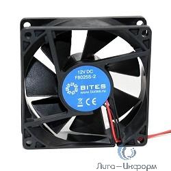 5bites F8025S-2 Вентилятор  80 x 80 x 25мм, подшипник скольжения, 2000RPM, 23dBa, 2 pin