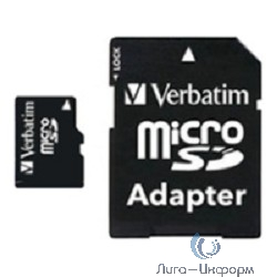 Micro SecureDigital 8Gb Verbatim 44081 {MicroSDHC Class 10 UHS-I, SD adapter}
