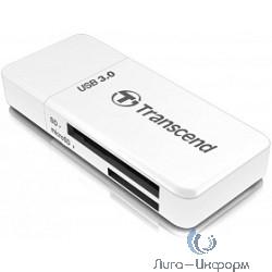 USB 3.0 Multi-Card Reader F5 All in 1 Transcend [TS-RDF5W] White