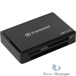 USB 3.0 Multi-Card Reader F9 All in 1 Transcend [TS-RDF9K] Black