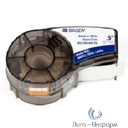 BRADY brd110894 Лента принтерная для кабеля, провода, патч-панелей, 12.7мм x 4.87м, нейлон, черный на белом, M21-500-499