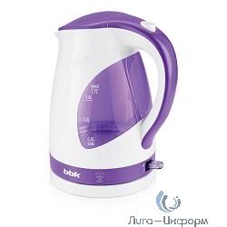 BBK EK1700P Электрический чайник, белый/фиолетовый