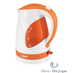 BBK EK1700P (W/O) Чайник электрический, белый/оранжевый