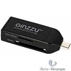 USB 2.0 Card reader microUSB/USB/SD/microSD [GR-584UB] Black