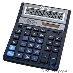 Калькулятор бухгалтерский Citizen SDC-888XBL 12 разрядов, две памяти, 205х159х27мм, синий
