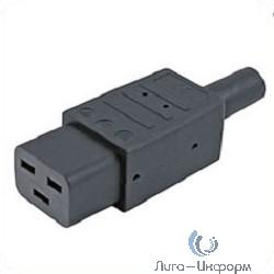 Hyperline CON-IEC320C19 Разъем IEC 60320 C19 220В 16A на кабель, контакты на винтах (плоские контакты внутри разъема), прямой