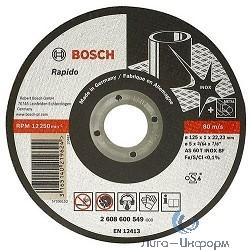 Bosch 2608600094 ОТРЕЗНОЙ КРУГ INOX 125X2 ММ