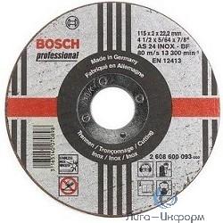 Bosch 2608600095 ОТРЕЗНОЙ КРУГ INOX 180X2 ММ