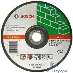 Bosch 2608600326 ОТРЕЗНОЙ КРУГ КАМЕНЬ 230Х3 ММ