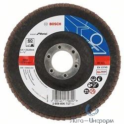 Bosch 2608606717 КРУГ ЛЕПЕСТК 125мм K60 E.f.Metal