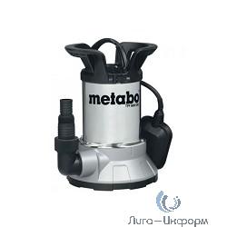 Metabo TPF 6600 SN [250660006] Насос дренажный { погружной, 450Вт,6600л/ч,6м,попл,нерж, вес 4,6 кг }
