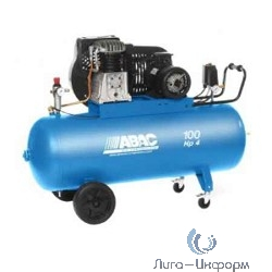 ABAC B4900B/100 CT4 PLUS Компрессор [4116022238] {Реси- вер 100 л. Произ- водит. 514 л/мин. Давле-ние 11 бар Мощн. 3 кВт Напря-жение 380В Вес 73 кг.}