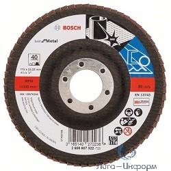 Bosch 2608607322 КРУГ ЛЕПЕСТК 115мм K40 Best for Metal