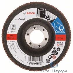 Bosch 2608607324 КРУГ ЛЕПЕСТК 115мм K80 Best for Metal