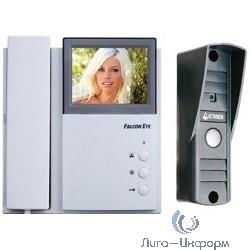 Falcon Eye FE-4CHP2+AVP-505(PAL)темно-серый{Цветной монитор домофона 4-провод., на 2 вызывные панели, настенный, экран 4'', подключение доп. трубки}