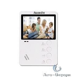 Falcon Eye FE-43Сбелый {Видеодомофон цветной, подключение 2-х вызывных панелей, без трубки (Hands Free), управление электрозамком}