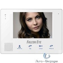 """Falcon Eye FE-IP70M белый{Цветной TFT LCD экран 7"""", на 2 вызывные панели, интерком, открытие замка, запись фото/видео SD}"""