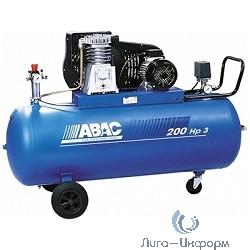 ABAC B5900B/200 CT5,5 Компрессор [53LC701(4116019694)] {Реси- вер 200 л. Произ- водит. 653 л/мин. Давле-ние 11 бар Мощн. 4 кВт Напря-жение 380В Вес 164 кг.}