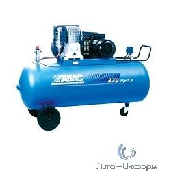 ABAC B6000/270 CT 7,5 Компрессор [62XV801KQA072 (4116020436)] {Реси- вер 270 л. Произ- водит. 827 л/мин. Давле-ние 11 бар Мощн. 5.5 кВт Напря-жение 380В Вес 210 кг.}