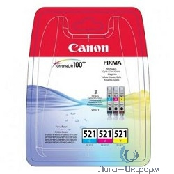 Canon 2934B010 Набор Canon CLI-521 C/M/Y MULTIPACK  для MP540/550/560/620/630/640/980/990 iP3600/4600/4700 MX860
