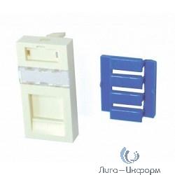 1711349-1 Лицевая панель прямая 22.5x45, 1-портовая, Цвет: белый