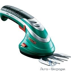 Bosch ISIO 3 [0600833100] Ножницы для травы { 3.6 В, 1.5 Ач, нож 8 см, 0.55 кг }