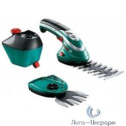 Bosch ISIO 3 + распылитель [060083310G] Ножницы для травы { 3.6 В, 1.5 Ач, нож 8 см, 0.6 кг }
