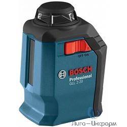 Bosch GLL 2-20 Лазерный нивелир [0601063J00] { 635 нм, до 20 м }