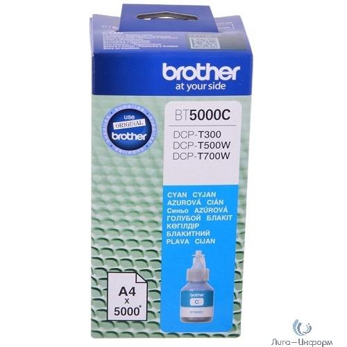Brother BT5000C Чернила, Cyan {DCPT300/500W/700W (41,8мл, 5000стр)}