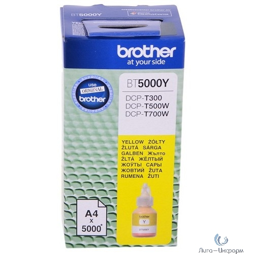 Brother BT5000Y Чернила, Yellow {DCPT300/500W/700W (41,8мл, 5000стр)}