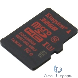 Micro SecureDigital 32Gb Kingston SDCA3/32GBSP {MicroSDHC Class 10 UHS-I U3, SD adapter}