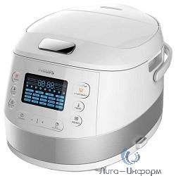 Мультиварка Philips HD4731/03, 980 Вт, 5 л, 19 программ, белый/ металлик