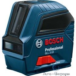 Bosch GLL 2-10 Лазерный нивелир [0601063L00] { 10м, 635 nm, 0.49 кг }