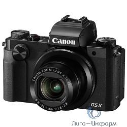 "Canon PowerShot G5 X черный {20.2Mpix Zoom4.2x 3"" 1080p SDXC/SD/SDHC CMOS IS opt 5minF rotLCD TouLCD VF 4.4fr/s RAW 60fr/s HDMI/WiFi/NB-13L}"