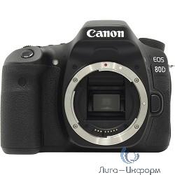 """Canon EOS 80D черный {24.2Mpix 3"""" 1080p Full HD SDXC Li-ion (без объектива)}"""