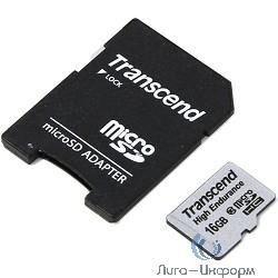 Micro SecureDigital 16Gb Transcend TS16GUSDHC10V {MicroSDHC Class 10, SD adapter}