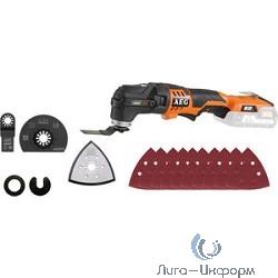 AEG 446705(OMNI18C LI-202BKIT1X) Аккумуляторный многофункциональный инструмент [446705(OMNI18C LI-202BKIT1X)] {18В,2х2Ач Li-ion,1 кг,сум,насадка OMNI-MTX б\ключ,шл.подошва,2 ножа,адапт,10ШЛ}