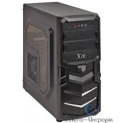 3Cott 1815 ATX w/o PSU, окно USB 3.0( с доп.коннектором USB 2.0), 2х 12см LED новые красные вент-ры, Black