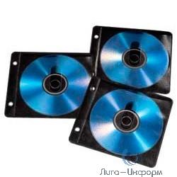 Hama H-84102 [825916] Конверты для 2 CD/DVD с перфорацией для портмоне с кольцами 50 шт. черный/прозрачный