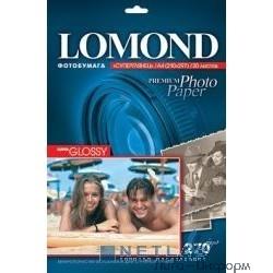 1106100  LOMOND  Суперглянцевая фотобумага 1x 270г/м2, А4, 20л
