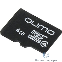 Micro SecureDigital 4Gb QUMO QM4GMICSDHC4NA {MicroSDHC Class 4}