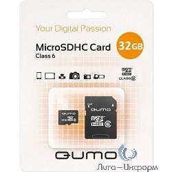 Micro SecureDigital 32Gb QUMO QM32GMICSDHC6 {MicroSDHC Class 6, SD adapter}