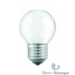 011220 Лампа накаливания Philips P45 40W E27 230V шарик FR